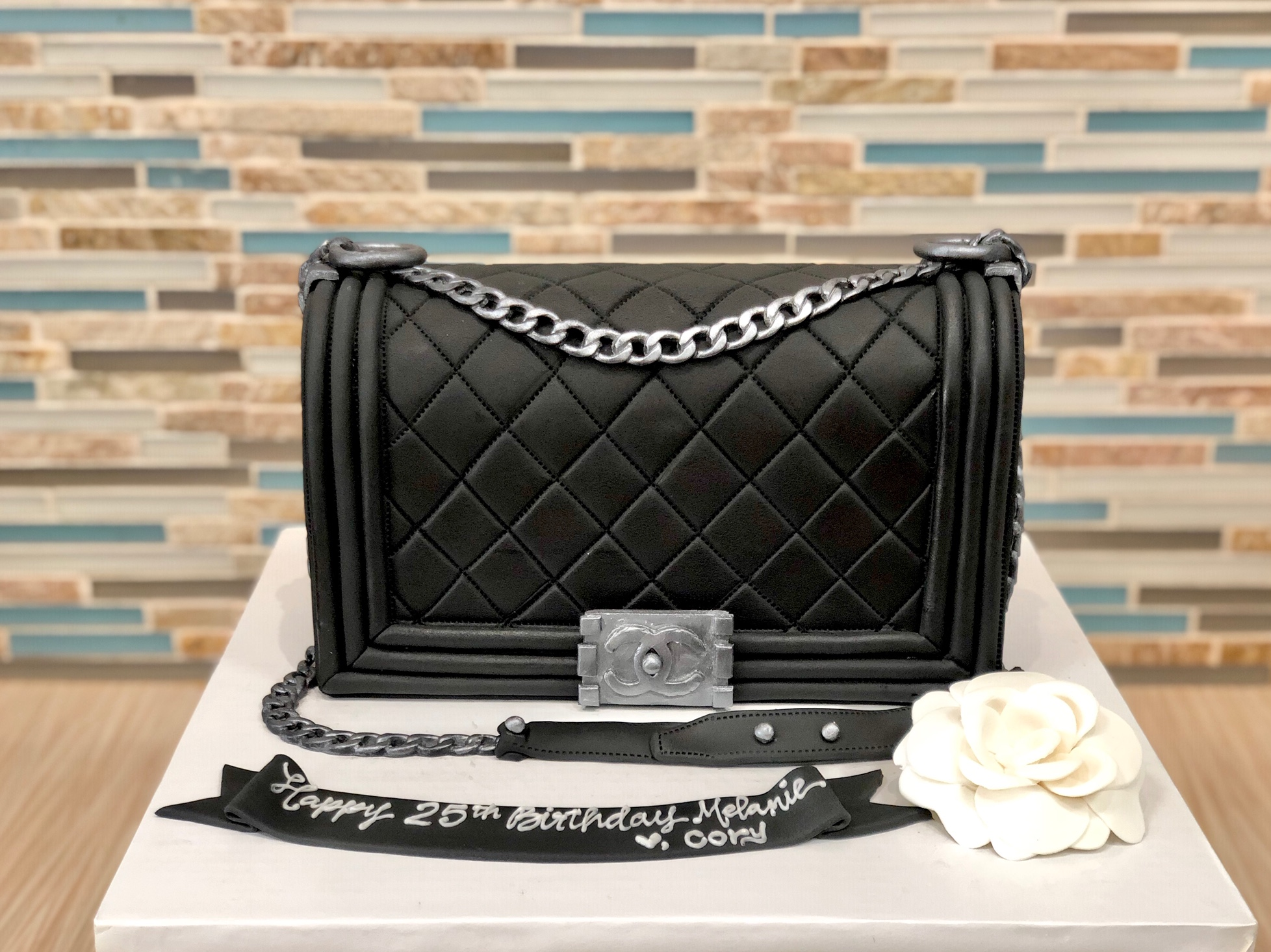 Chanel Boy Bag Birthday Cake