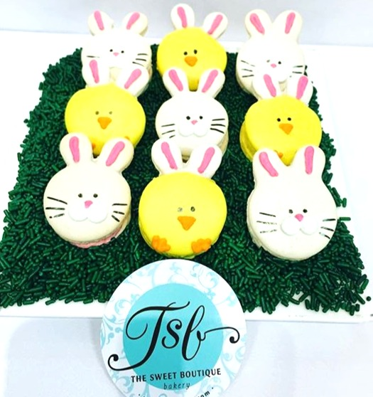 Bunny and Chicks Macarons