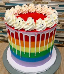Rainbow Buttercream Birthday Cake