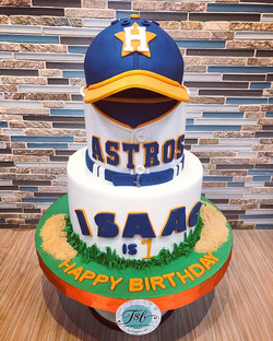 Astros win today! This birthday cake and
