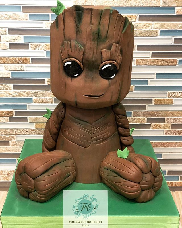 I Am Groot Sculpted Cake