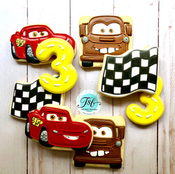 Cars Lightning McQueen Cookies