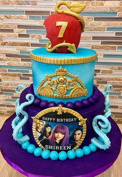 Descendants Birthday Cake