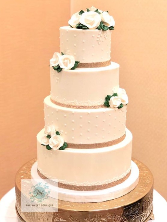 4 Tier Buttercream Wedding Cake