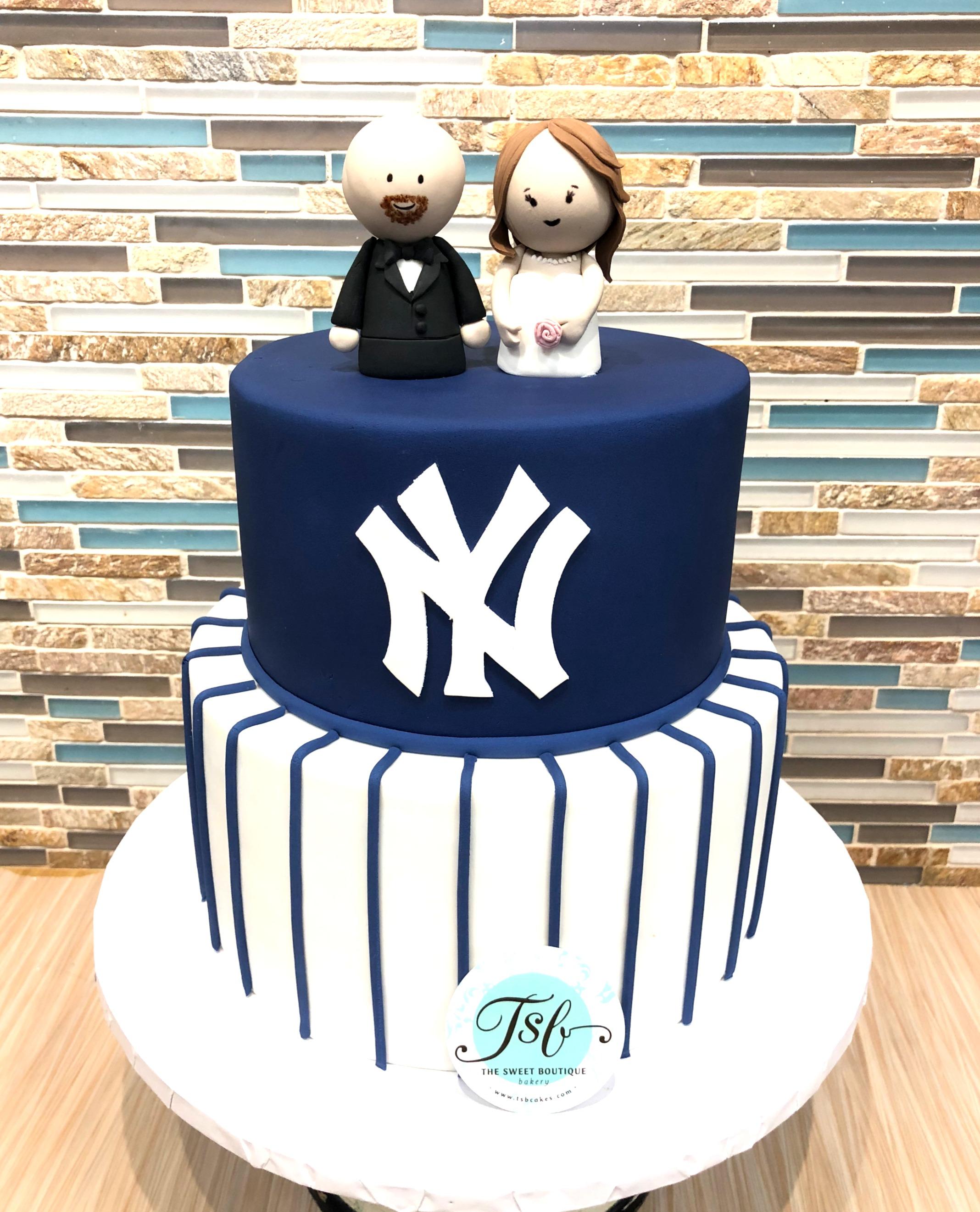NY Yankees Grooms Cake