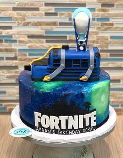 Fortnite Battle Bus Birthday Cake