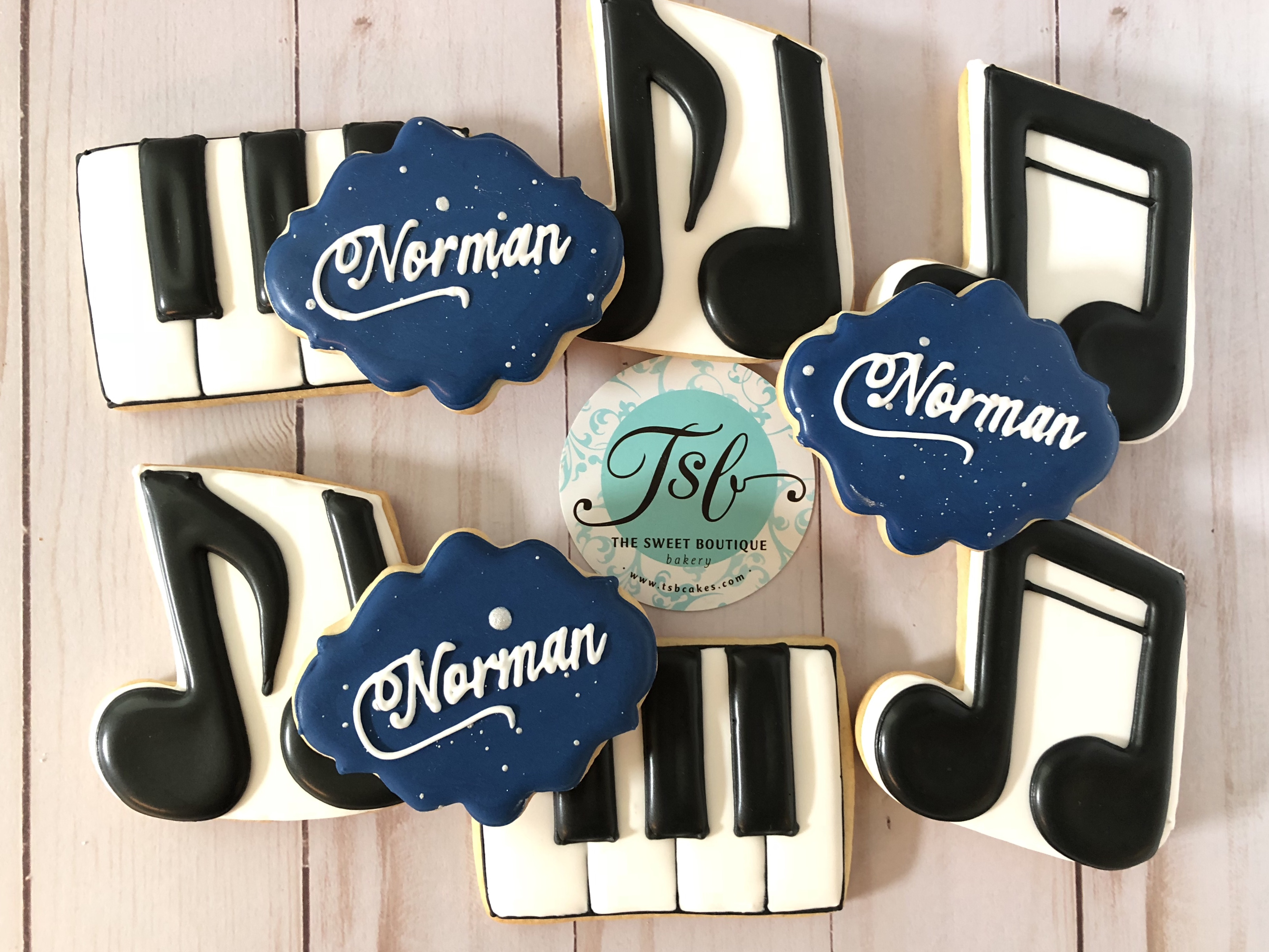 Piano/Music Notes Cookies