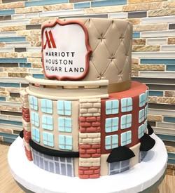 Marriott Hotel Anniversary Cake