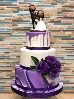 Purple Marble Wedding Cake