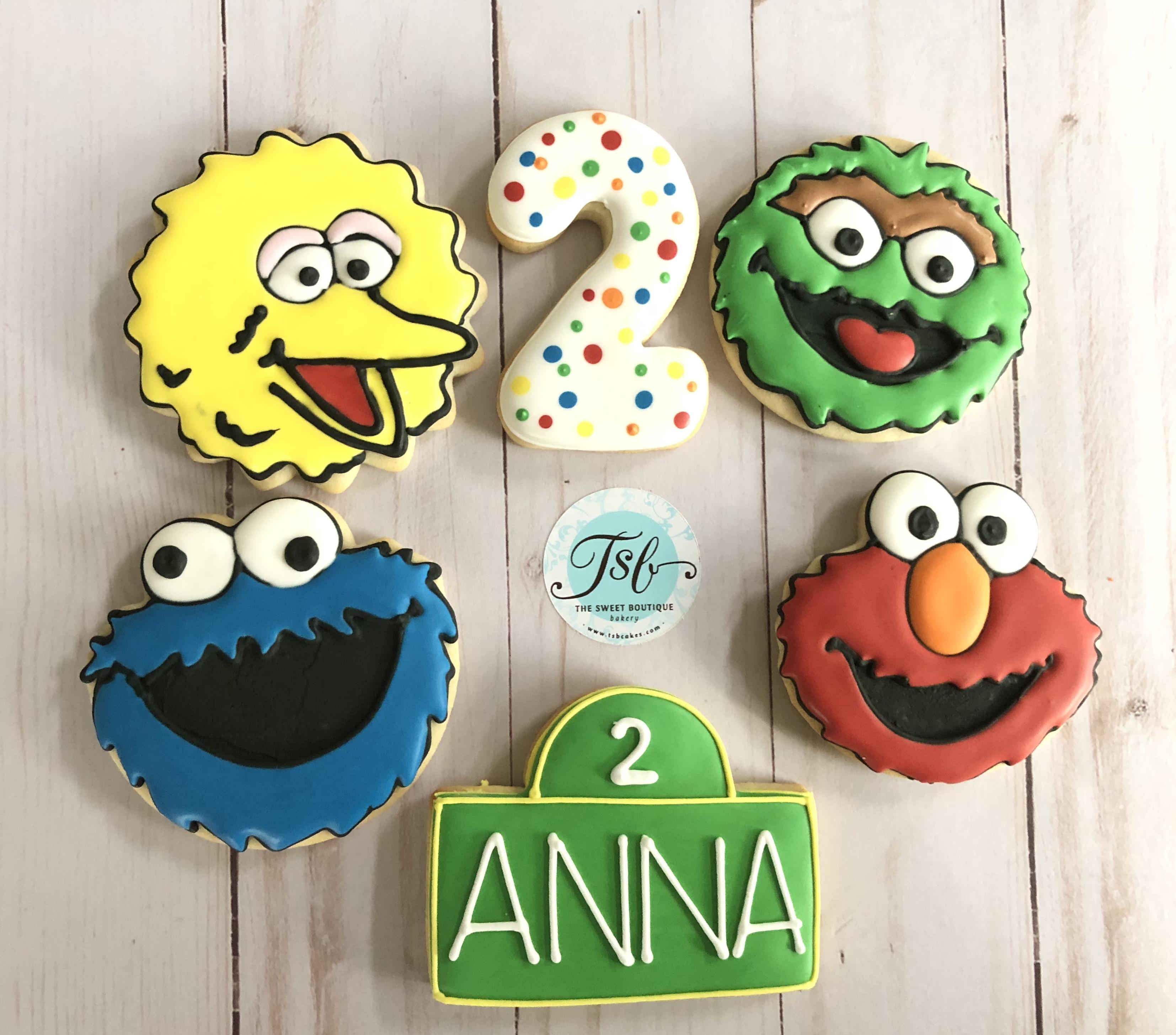 Sesame Street/Elmo Cookies