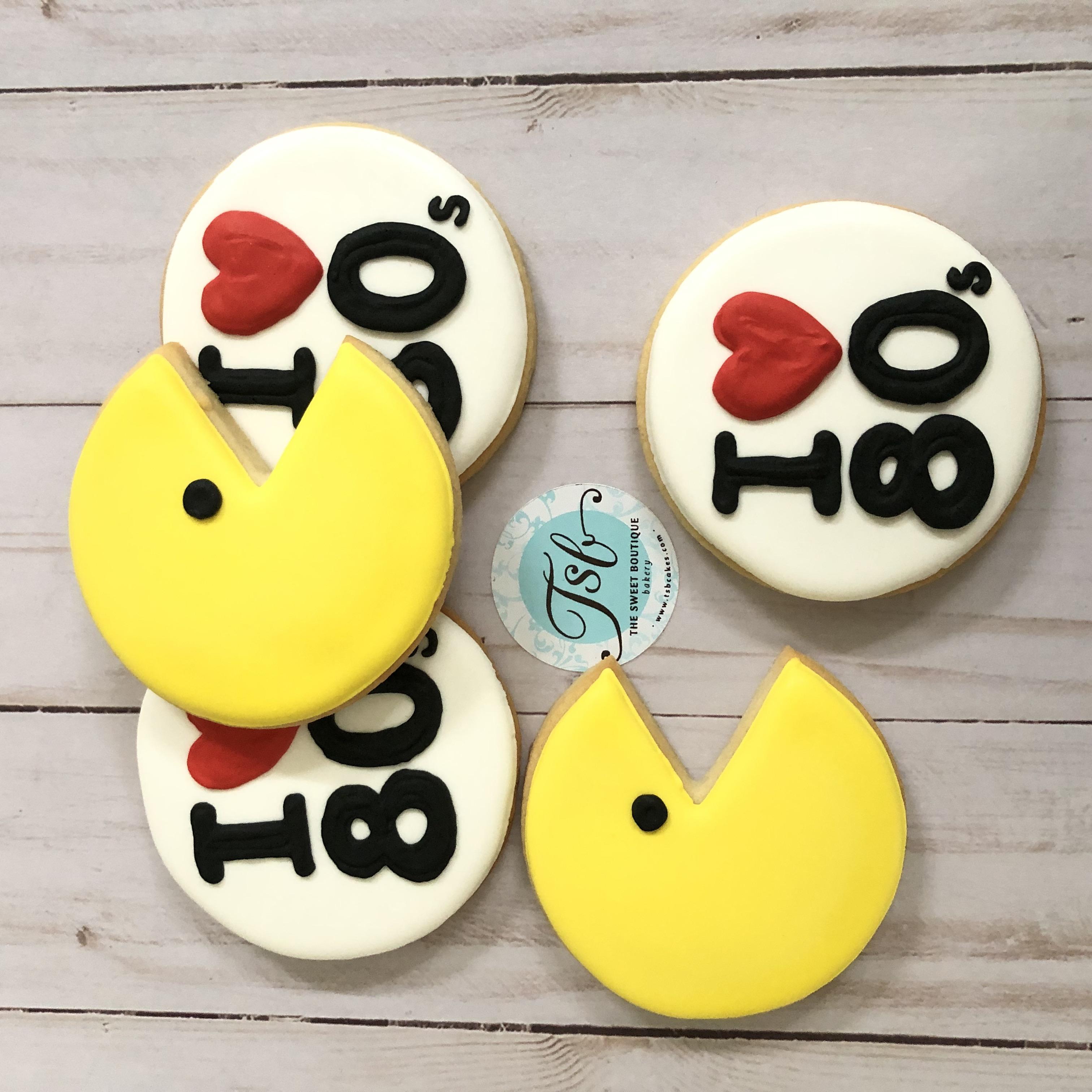 PacMan/ I Love 80s Cookies