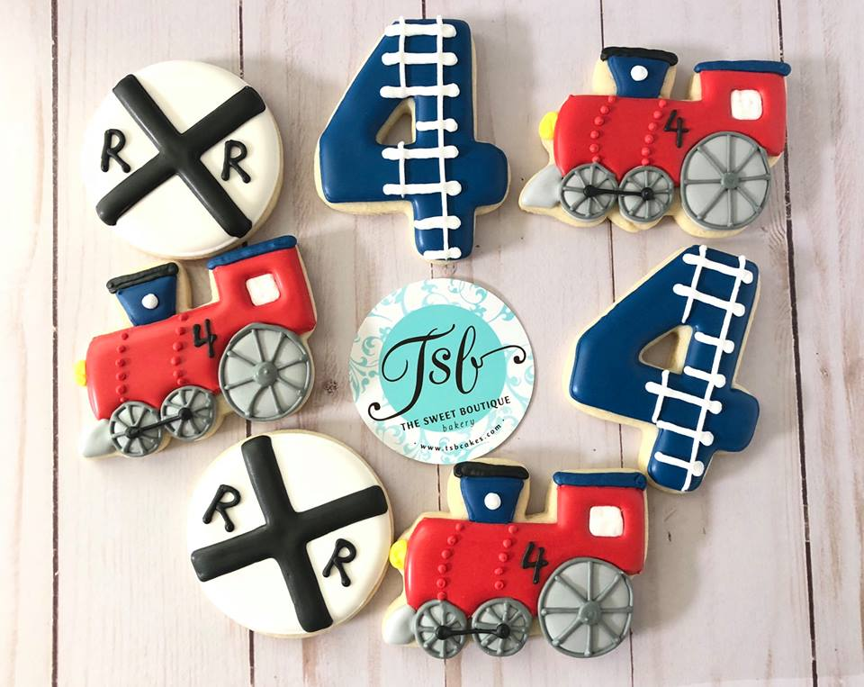 Railroad Train Cookies