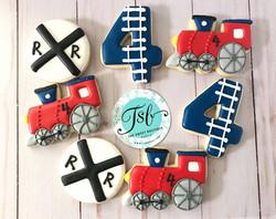 Railroad Train Cookies