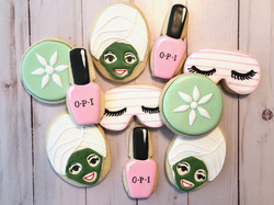 Spa Day Custom Cookies