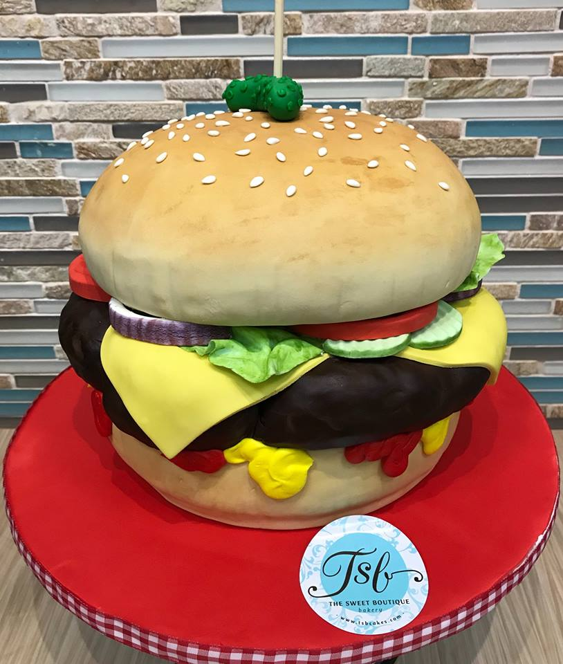Hamburger Birthday Cake