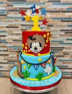 Cowboy Mickey Birthday Cake