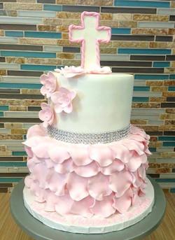 Baptism Cake for Girl