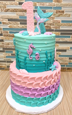 Buttercream Mermaid Cake