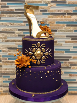 Bejeweled Cake with Heel