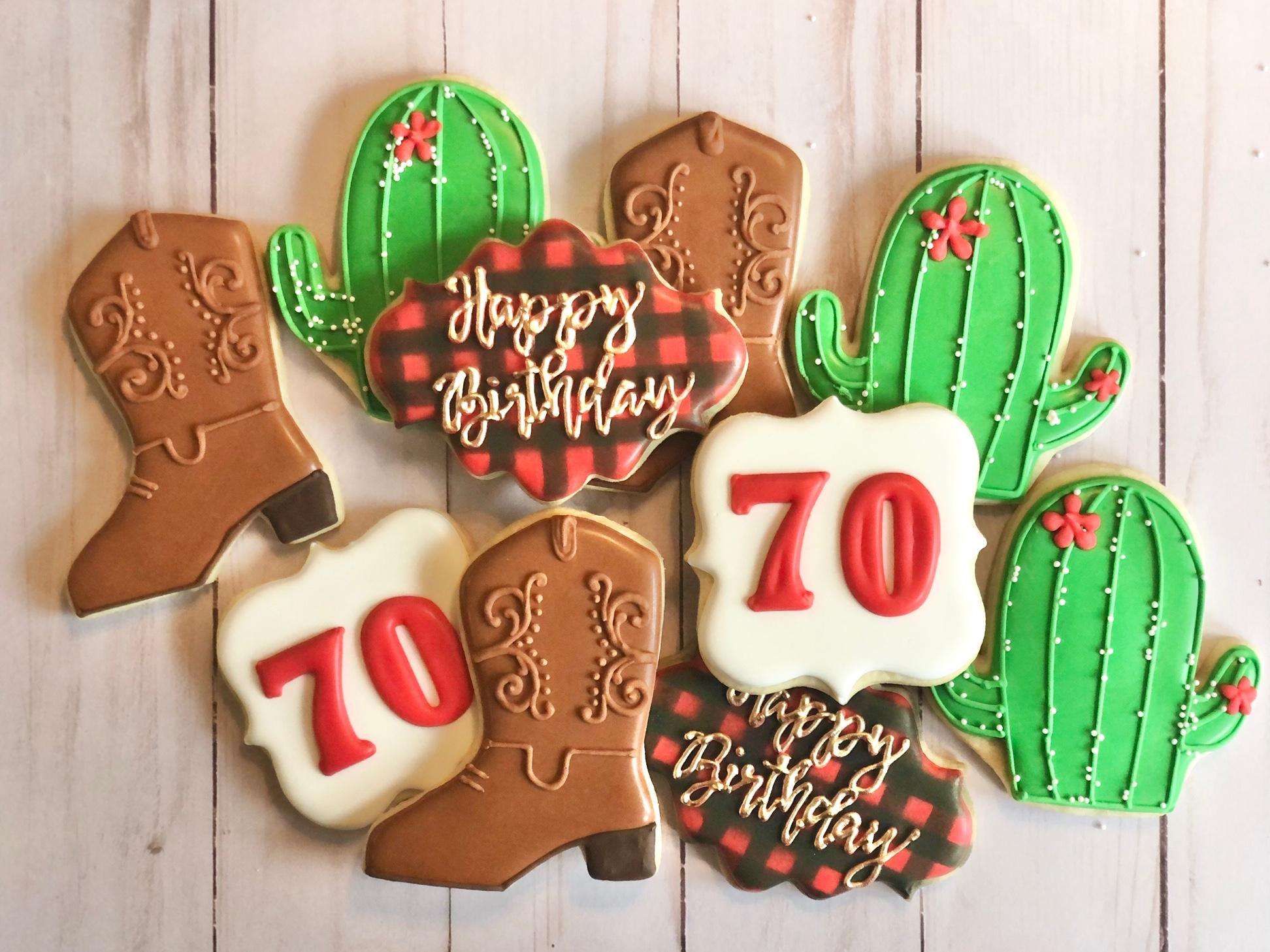 Cowboy Birthday Cookies