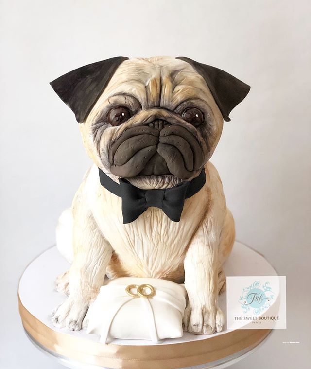 Pug Dog Grooms Cake