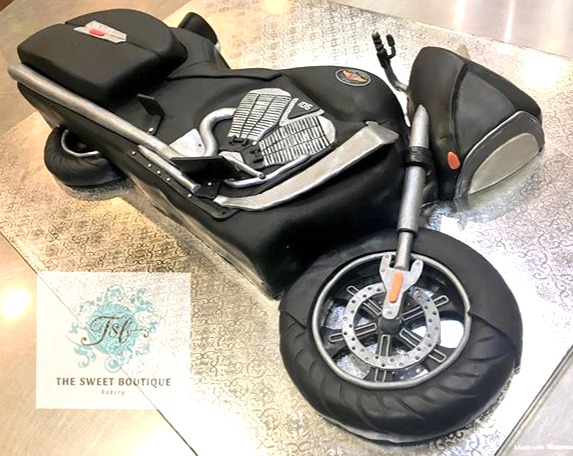 Sculpted Motorcycle Cake
