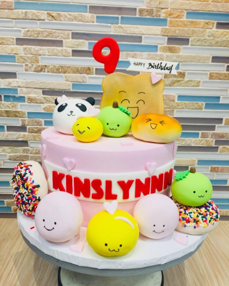 Squishy Characters Birthday Cake