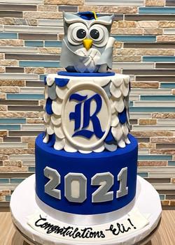 Rice Owls Graduation Cake