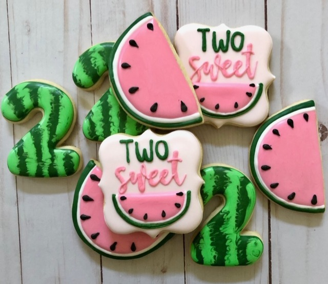 Watermelon Birthday Cookies