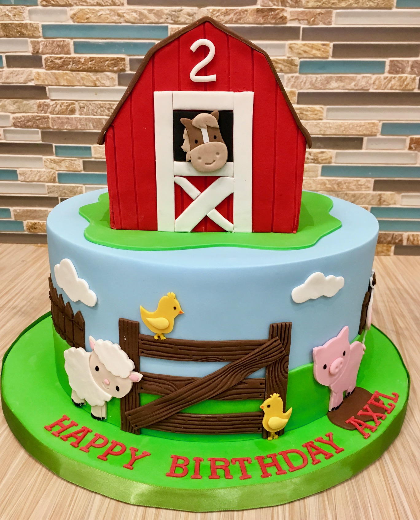 Barnyard Animals Custom Cake