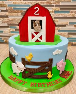 Barnyard Animals Custom Cake
