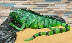 3D Iguana Birthday Cake