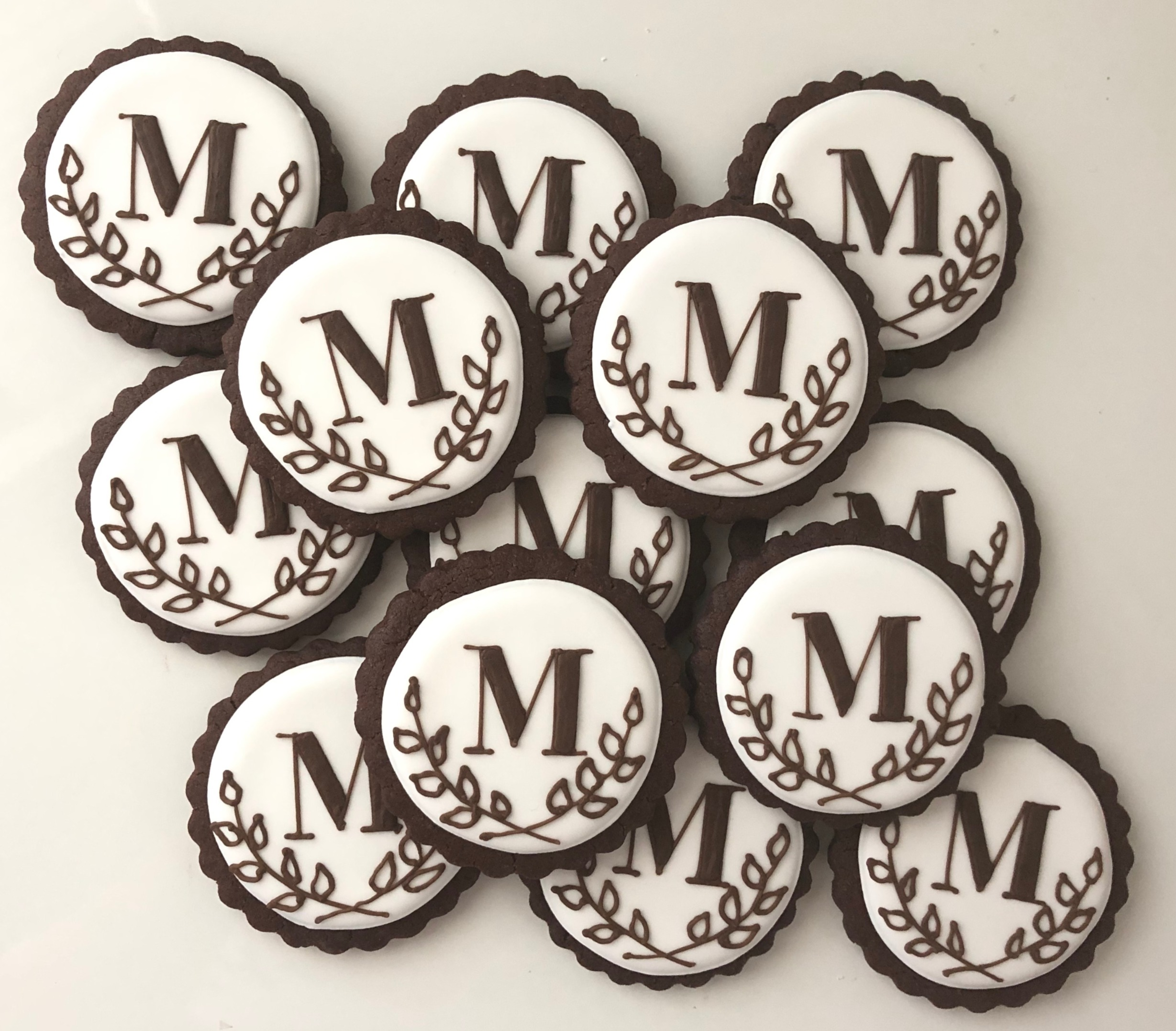 Monogram Wedding Cookie Favors