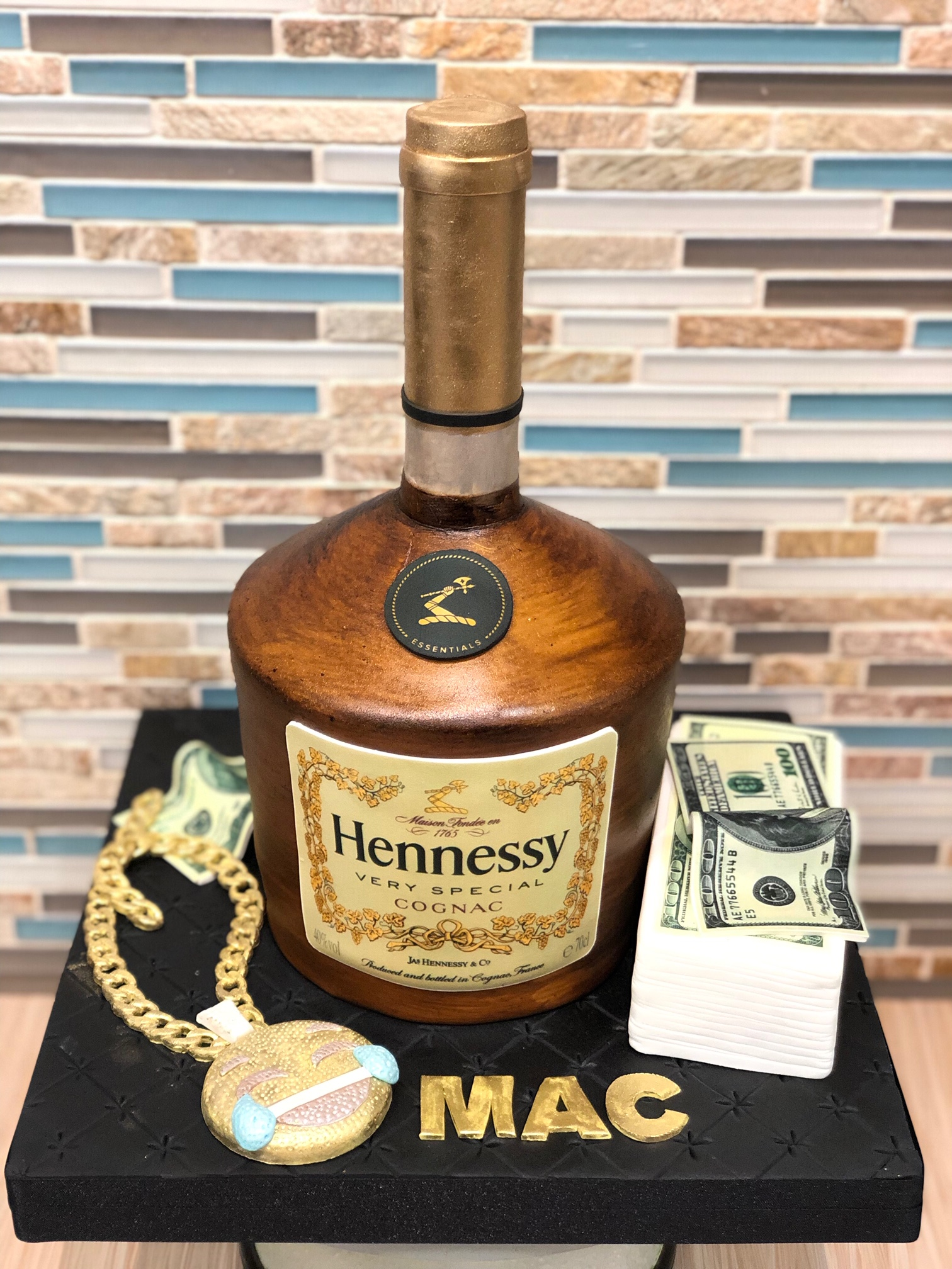 Hennessy Bottle Birthday Cake