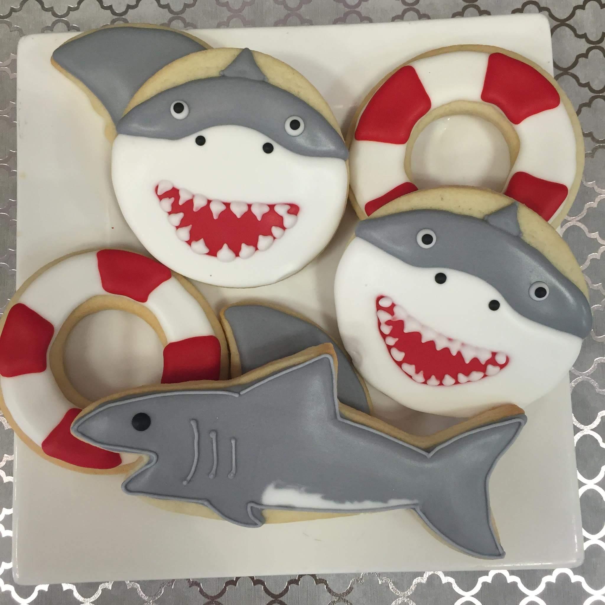Shark/Life Preserver Cookies