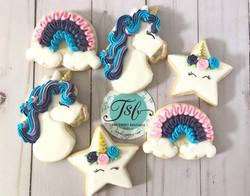 Unicorn/Rainbow Cookies