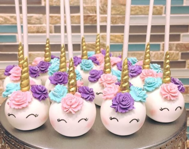 Unicorn Cake pops