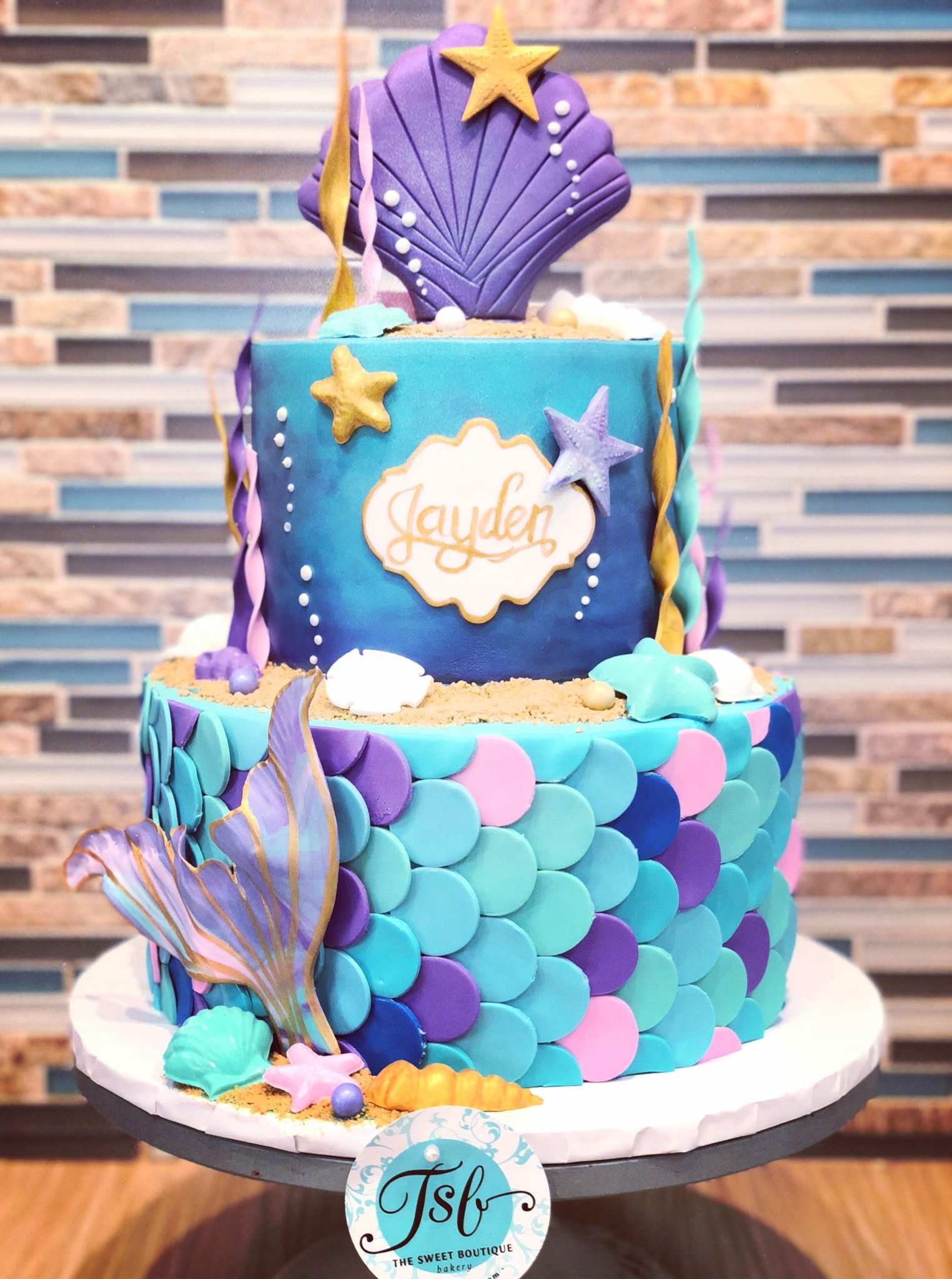 Mermaid Theme Birthday Cake