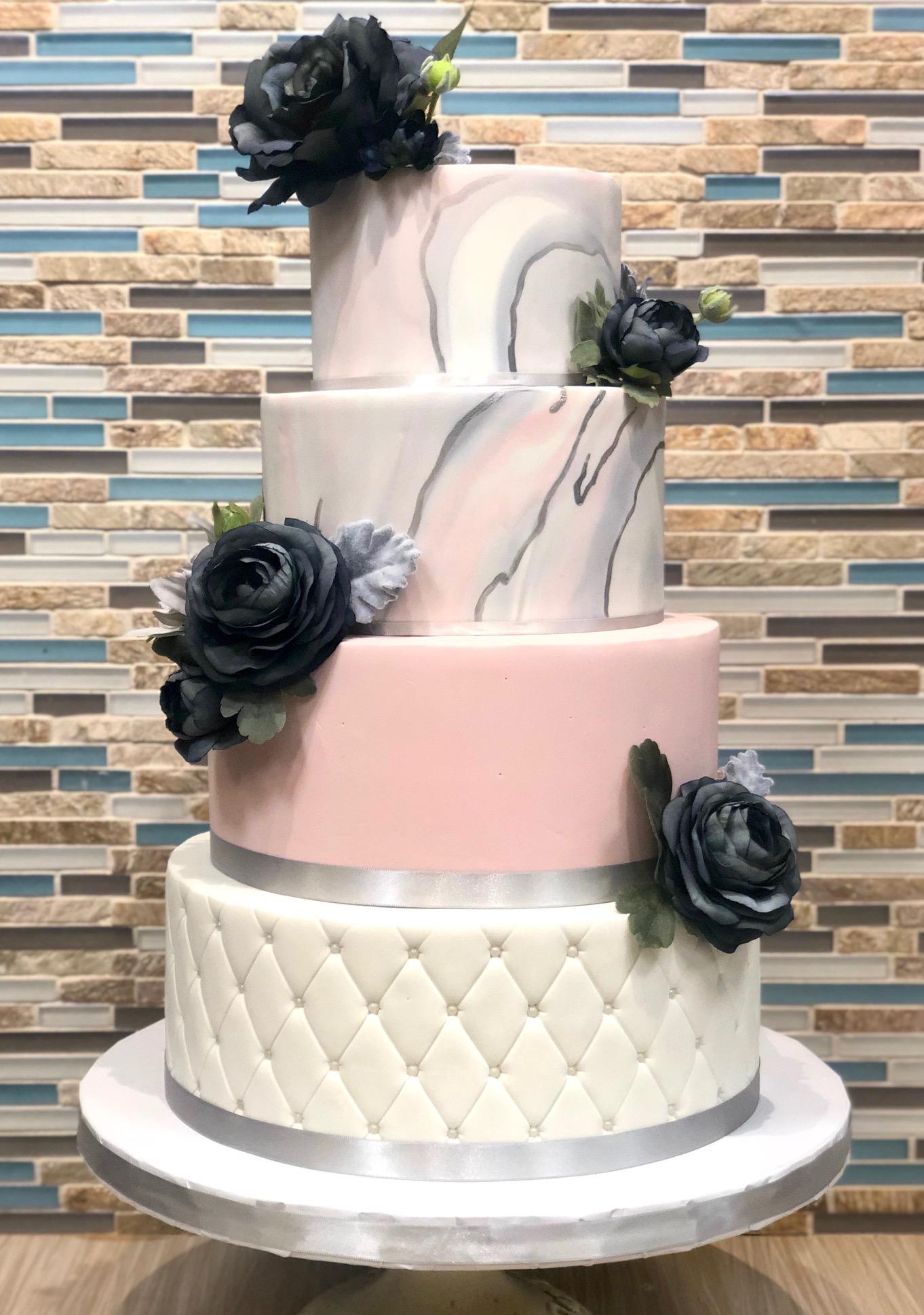 Marble Design Wedding Cake