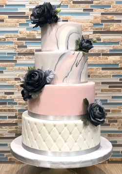 Marble Design Wedding Cake