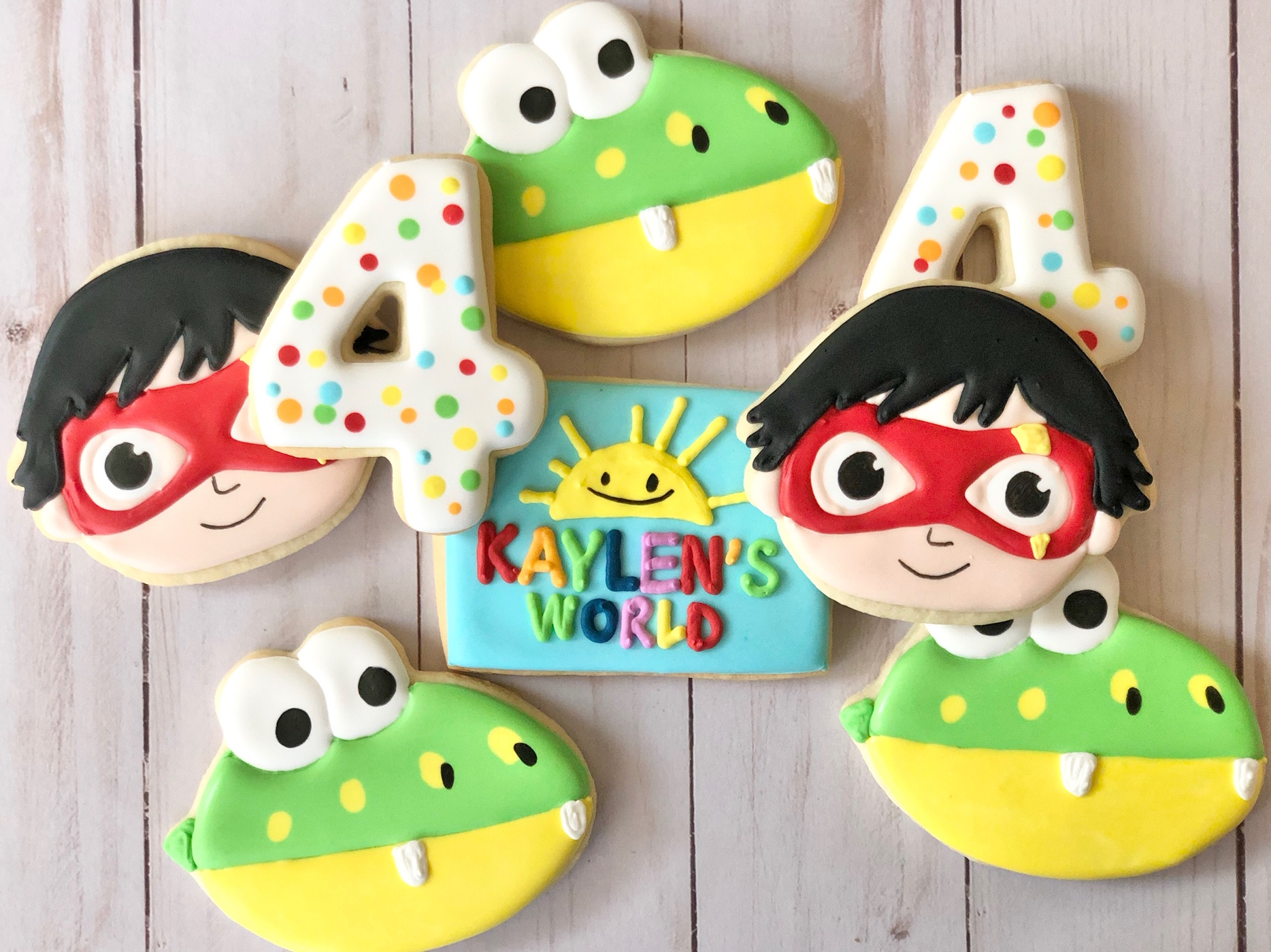 Ryan's World Custom Cookies