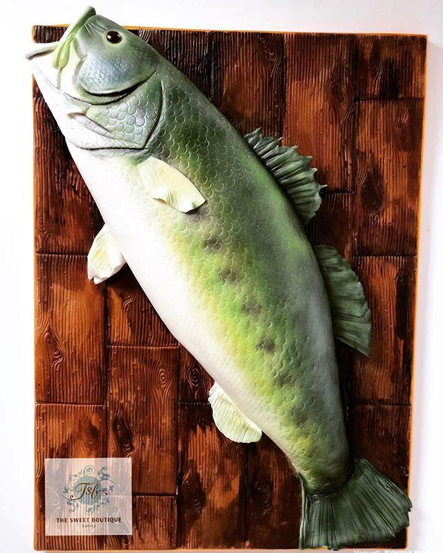 3D Bass Fish Grooms Cake