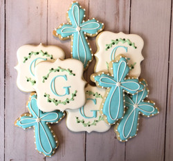 Boy Baptism Cookies
