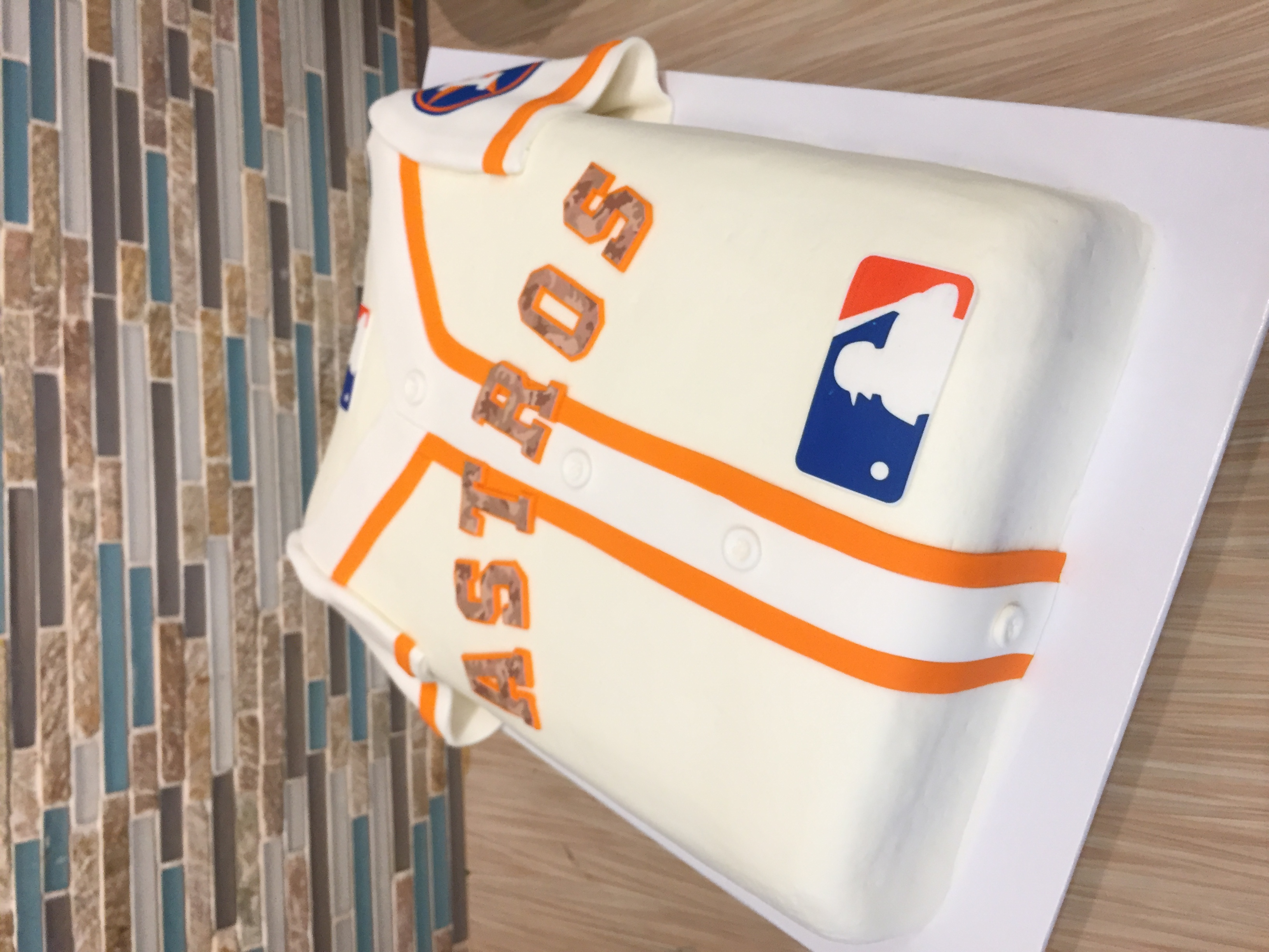 Astros Jersey Grooms Cake