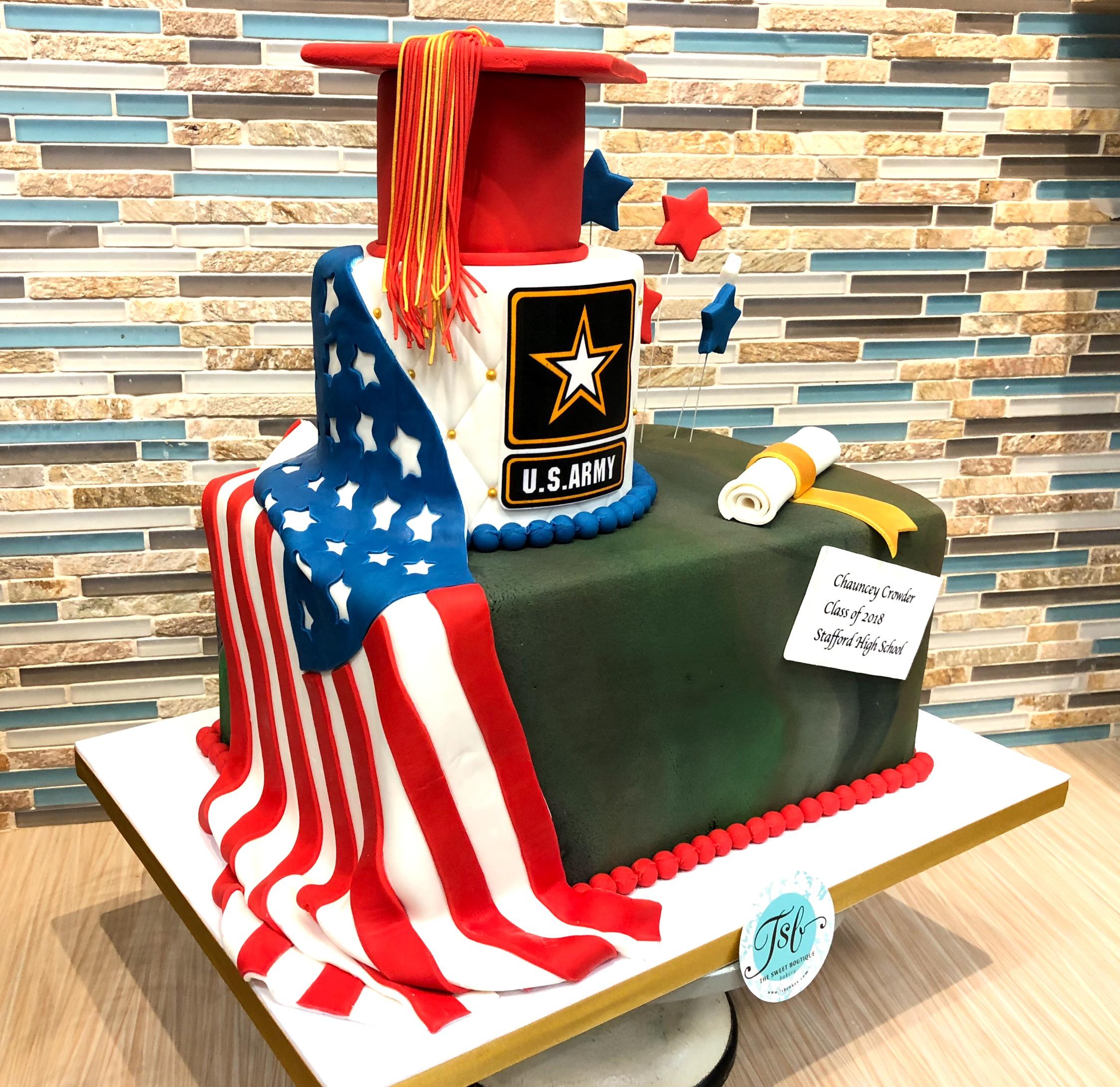 U.S. Army Graduation Cake