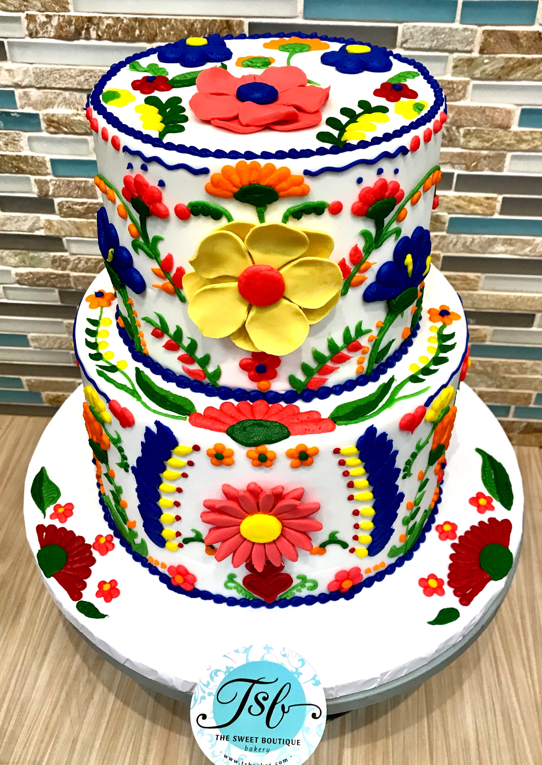 Fiesta Themed Birthday Cake