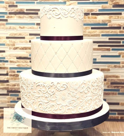 Scroll Work Wedding Cake Design
