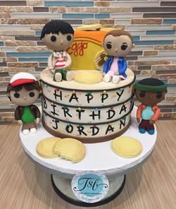 Stranger Things birthday cake with fonda