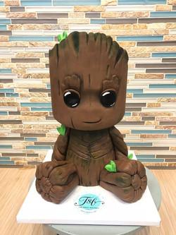 3D Sculpted I am Groot Cake