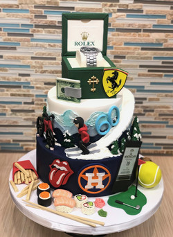 All of His Favorite Things Cake